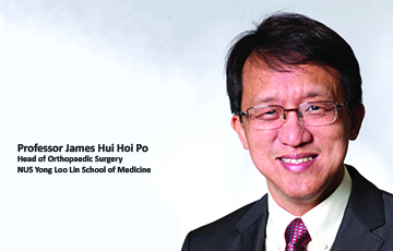Professor James Hui Hoi Po Appointed as Head of Orthopaedic Surgery at NUS Yong Loo Lin School of Medicine